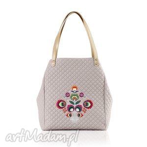 handmade na ramię torebka pikowana folk 430