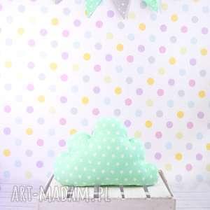 Prezent Poduszka w kształcie chmurki MIĘTOWA-GWIAZDKI, chmura, poduszka, pokój