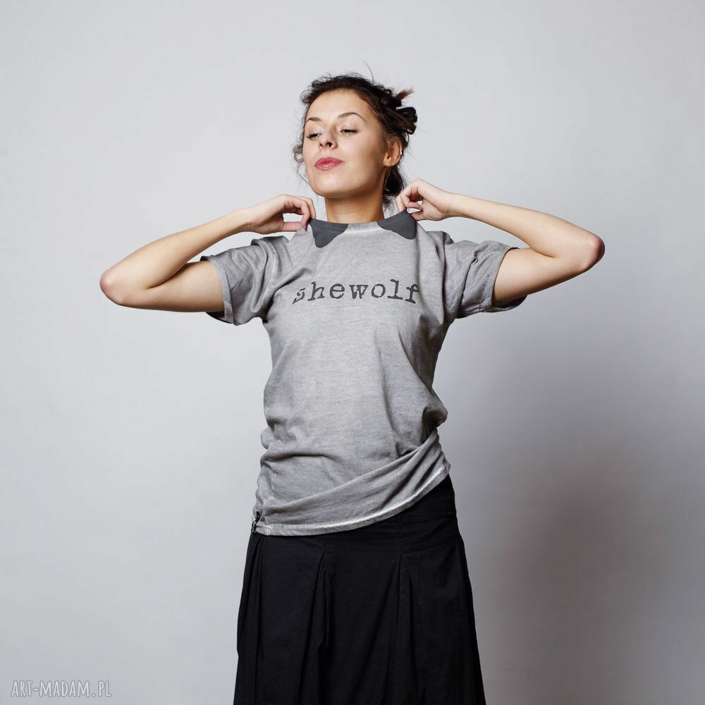 koszulki unisex shewolf koszulka z krótkim rękawem