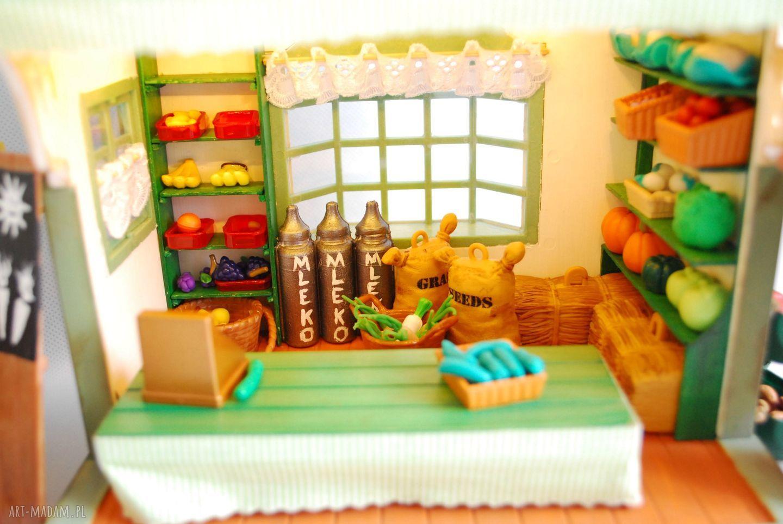 zielone zabawki domek dla lalek sklep