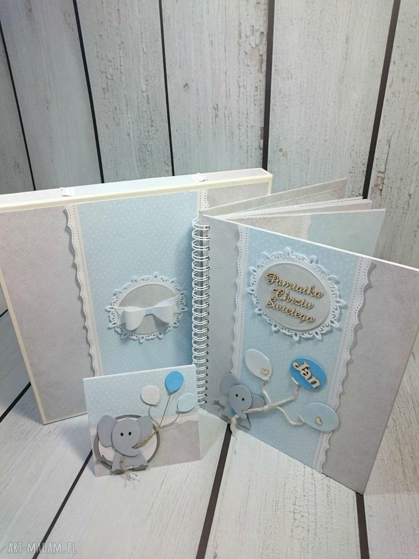 hand-made scrapbooking albumy zestaw - album w pudełku z kartką
