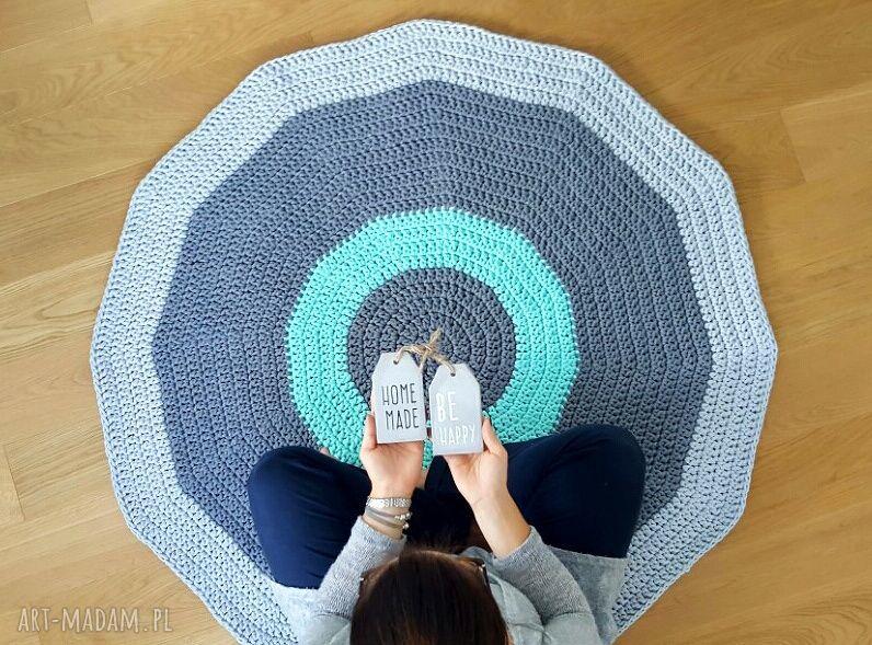 hand-made dywany dywan na szydełku