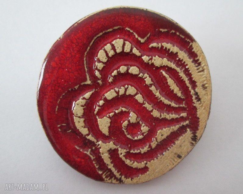 handmade broszki różana broszka