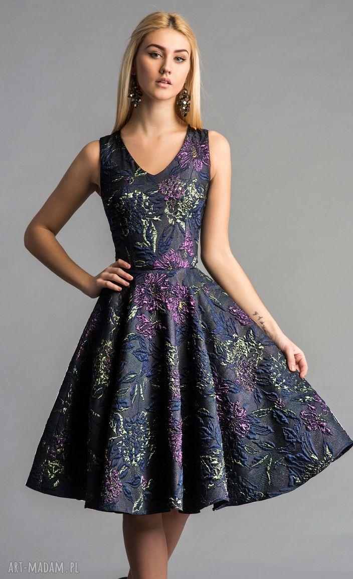handmade sukienki sukienka gina (koło) midi tiara