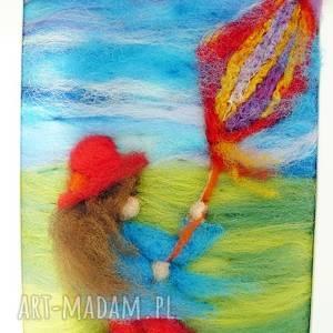 dziewczynka w czerwonym kapeluszu - obraz z kolekcji die - dekoracja, latawiec