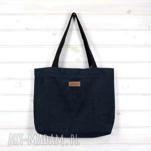 Prezent Amelia pojemna shopperka granatowa, torebka, pojemna, torba, mocna