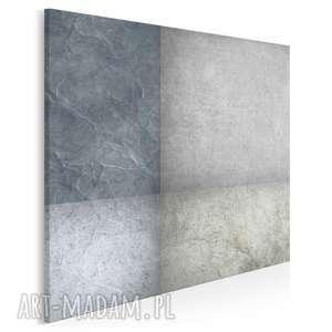 Obraz na płótnie - abstrakcja beton w kwadracie 80x80 cm 35502