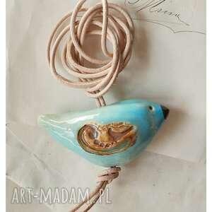 handmade wisiorki wisiorek błękitny ptaszek