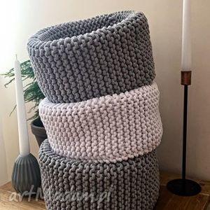 hand-made kosze scandi style basket - kosz sznurkowy