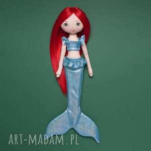 lalka syrenka z czerwonymi włosami jak ariel, lalka, laleczka, syrenka, syrena