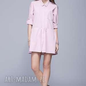 Luźna sukienka H005 Róż, sukienka, luźna-sukienka, sukienka-na-lato, kobieca, mini