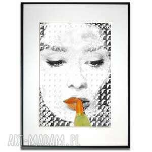 grafika w ramie orange black audrey