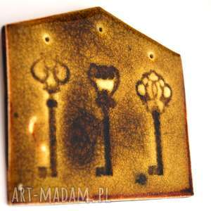 Ozdoba ceramiczna klucze, klucz, dom, ceramiczny, zamek