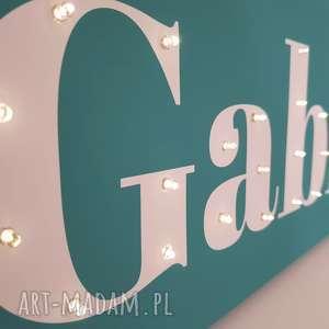 napis led twoje imię obraz dekoracja lampa personalizowany prezent dla chłopca