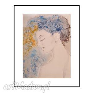 caprice, portret kobiety, plakat 50 70 cm, kobieta, portret, plakat, obraz obrazy dom
