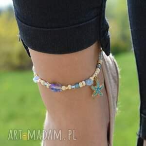 ręcznie wykonane bransoletka na kostkę z zawieszką rozgwiazdą
