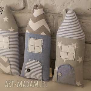 Domki dekoracyjne, dekoracje, zawieszki, domek, ozdoba, bawełna
