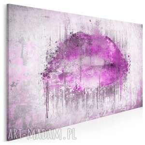 obraz na płótnie - abstrakcja usta fioletowy 120x80 cm 23102