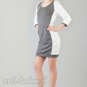8dcd907725 sukienka bialym szara - niebanalne