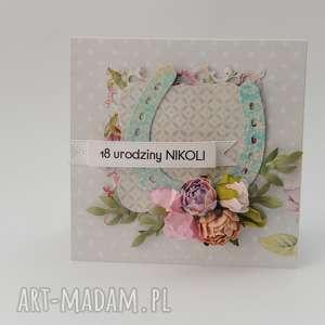 Kartka w pudełku urodzinowa scrapbooking kartki qachna