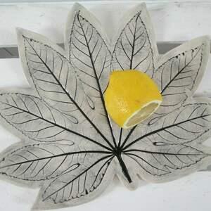 ceramika dekoracyjna patera liść, artystyczna, patera, ceramiczna, talerz, ceramiczny