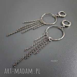 Długie z łańcuszkami, długie, srebro