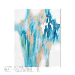 Fields of gold /1/, abstrakcja, nowoczesny obraz ręcznie malowany,