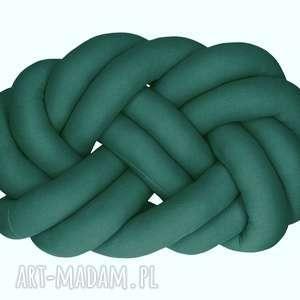 ręcznie pleciona dekoracyjna poduszka supeł turks head knotpillow 40x30