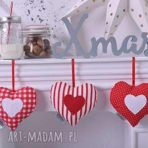 święta prezenty, zestaw trzech serduszek, dekoracje-świąteczne, ozdoby-na-świeta