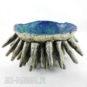 miska ceramiczna morska, miska, rzeźba, prezent, patera, dekoracje ceramika