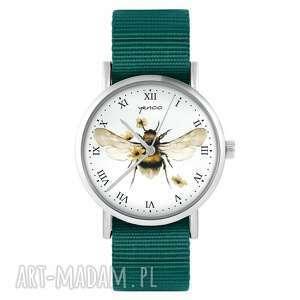 zegarek - bee natural morski, nylonowy, zegarek, nylonowy pasek, typ militarny