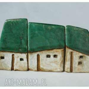 ceramika domki wiejskie zagroda zielona, ceramika, domki, zagroda, wieś