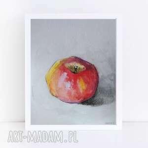 jabłko-akwarela formatu 18/24 cm, akwarela, papier, jabłko