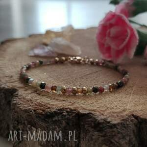 bransoletka z turmalinem - cherry blossom vii, kamieniami