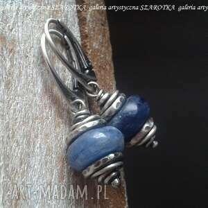 niezwykła niebieskość kolczyki z kyanitu i srebra, kyanit, kianit, srebro