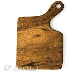 Drewniana, rustykalna deska dębowa do serwowania, rystykalne, rustic, hygge, stare