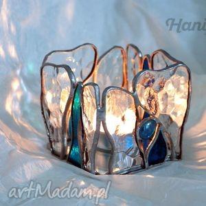 Lampion witrażowy ocean hanielgallery lampion, świecznik,
