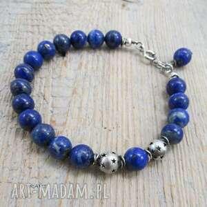 gwiazdki z lapis lazuli -bransoletka 368, lapis, srebro