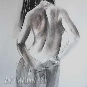 woman , duży-obraz-kobieta, obraz-do-salonu, czarno-biała-grafika