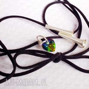 galavena choker z serduszkiem z kryształu tęczowego - kryształki