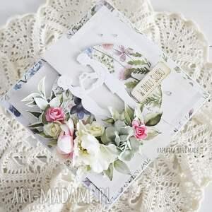 vairatka handmade kartka ślubna w pudełku, 851, ślub, wesele, młodej parze
