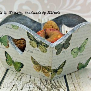 Koszyk na owoce- motyLOVE, na, owoce, drewniany, koszyczek, koszyk, pojemnik