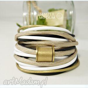 bransoletki trio mono z ii, bransoletki, handmade, świeta, sznurki, miedziana