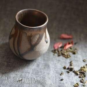 ręcznie robione ceramika matera kapiąca złotem