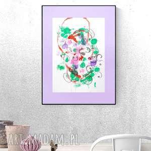 oryginalna grafika, abstrakcja do pokoju, nowoczesny obraz, grafika salonu