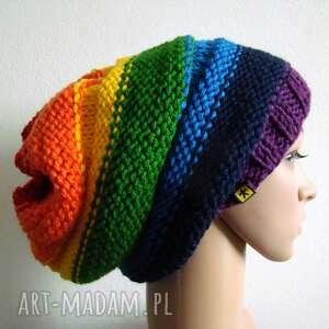tęczowa czapka, tęcza, tęczowa, kolorowa, uniwersalna, prezent