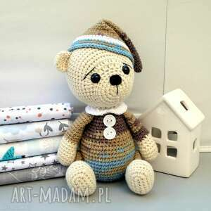 zabawki miś - śpioch wojtek, miś, bawełniany, oryginalny, prezent dla dziecka