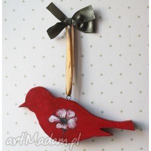 Ptak drewniany czerwony, ptak, ptaszek