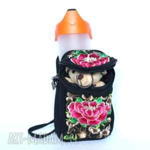 torebka etniczna mała miejska haftowana telefon , podróż, damska, rower, wakacje