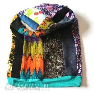 handmade czapki patchworkowa kolorowa boho etno damska czapka